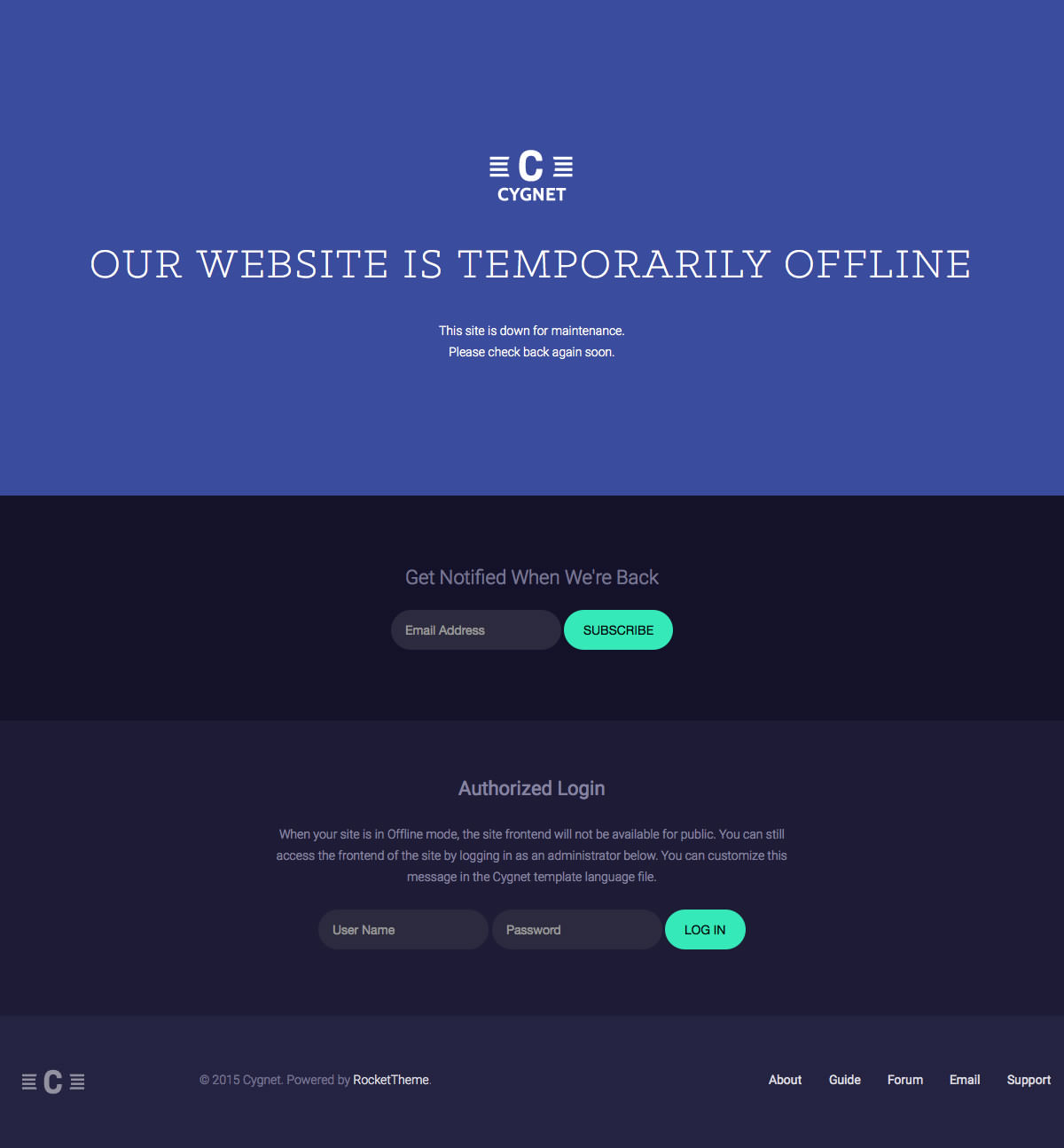 Offline Page | Cygnet WordPress Demo