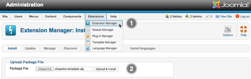 Installation step 2 template default maxwellsz
